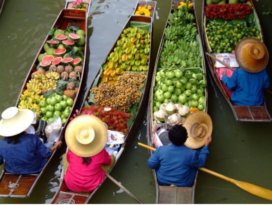 画像3 水上マーケット果物